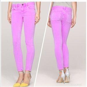 J Crew lilac purple toothpick ankle jeans 27